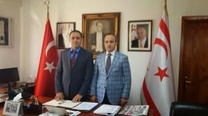 AK Parti İstanbul Milletvekili Sayın Bülent Turan, Başkonsolosumuz Sayın Fahri Yönlüer'i makamında ziyaret etti. (6 Mart 2015)